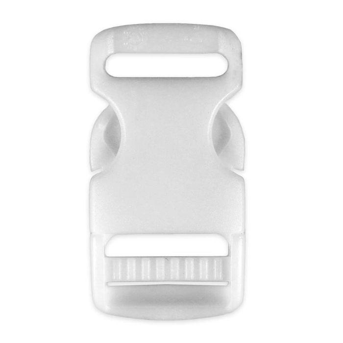 3/4 Inch Plastic Side Release Buckle Single Adjust White