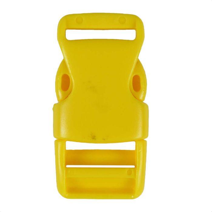 3/4 Inch Plastic Side Release Buckle Single Adjust Yellow
