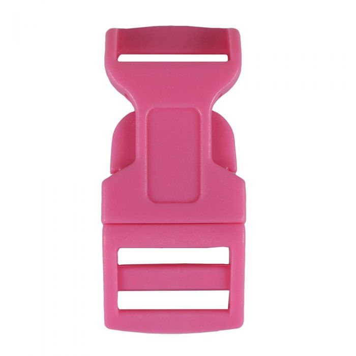 5/8 Inch Plastic Side Release Buckle Single Adjust Contoured Cotton Candy Pink
