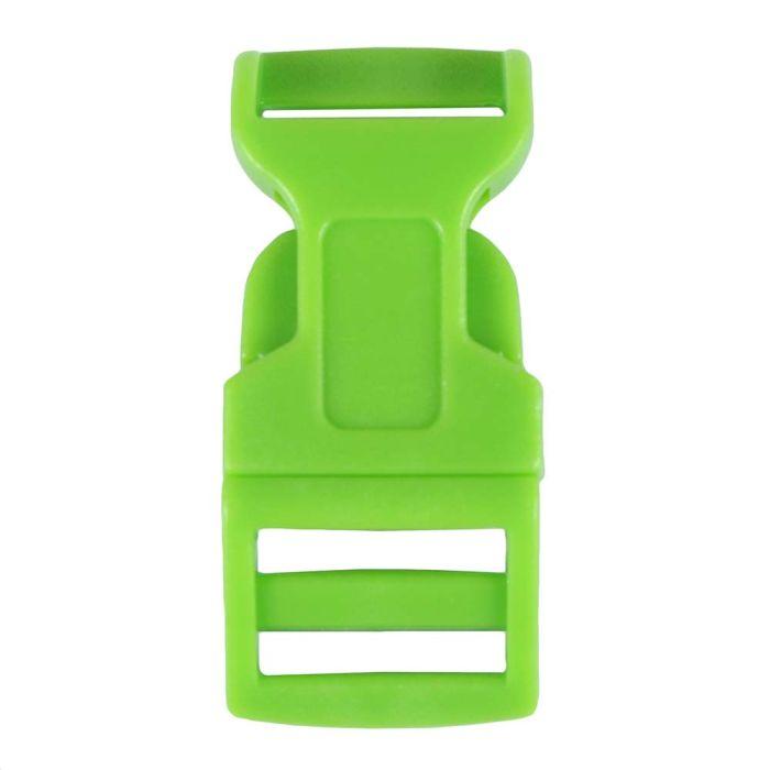 5/8 Inch Plastic Side Release Buckle Single Adjust Contoured Grass Green