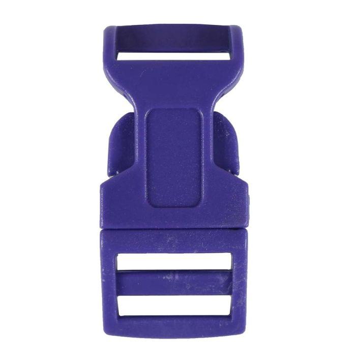 5/8 Inch Plastic Side Release Buckle Single Adjust Contoured Purple