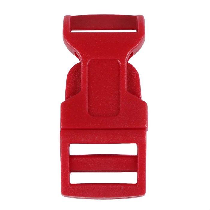 5/8 Inch Plastic Side Release Buckle Single Adjust Contoured Red