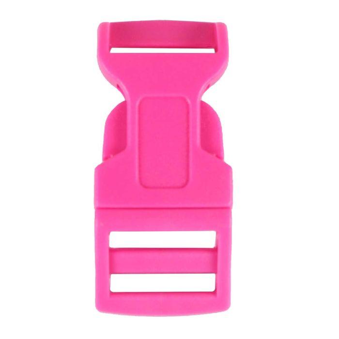 5/8 Inch Plastic Side Release Buckle Single Adjust Contoured Rose Pink