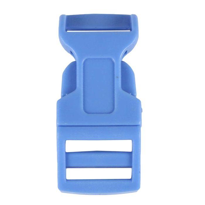 5/8 Inch Plastic Side Release Buckle Single Adjust Contoured Steel Blue