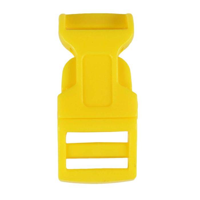 5/8 Inch Plastic Side Release Buckle Single Adjust Contoured Yellow