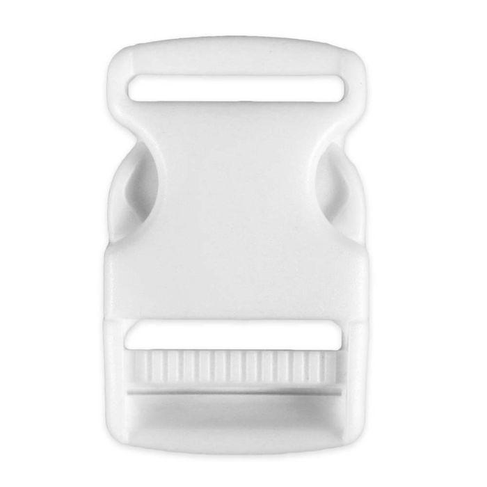 1 1/2 Inch Plastic Side Release Buckle Single Adjust White