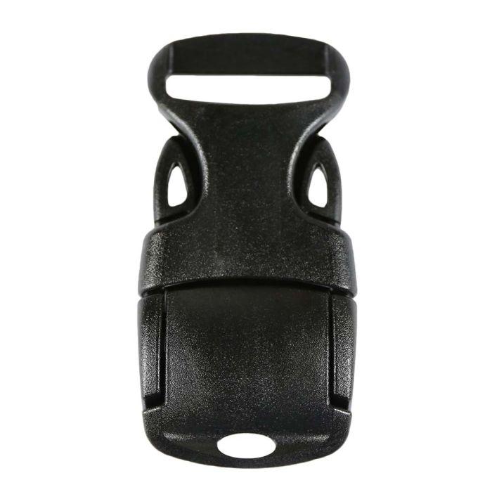 1 Inch Plastic Adjust Lock Side Release Buckle Single Adjust Black