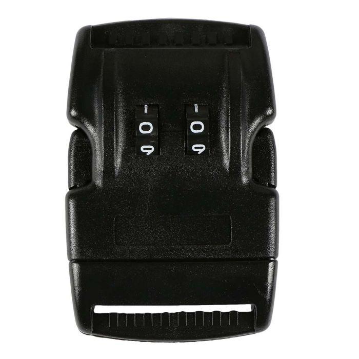 1 1/2 Inch Plastic Combination Locking Side Release Buckle No Adjust Black