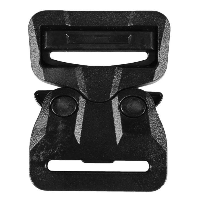 1 1/2 Inch Plastic Cobra Buckle Single Adjust Black