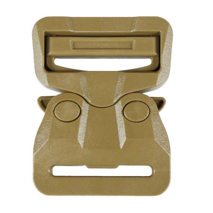 1 1/2 Inch Plastic Cobra Buckle Single Adjust Tan