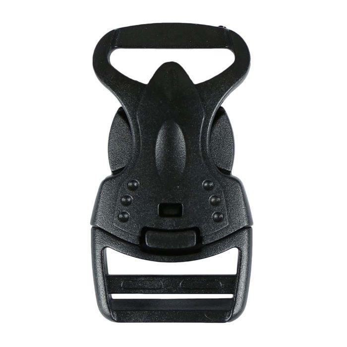 1 Inch Plastic Child Safe Side Release Buckle Single Adjust Black