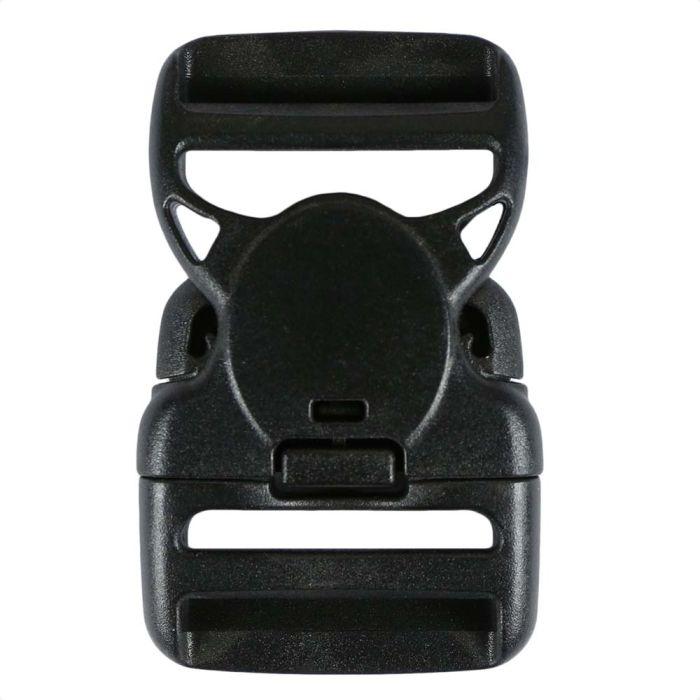 1 1/2 Inch Plastic Child Safe Side Release Buckle Double Adjust Black