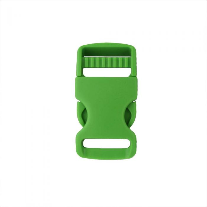 1 Inch Plastic Single Adjust Side Release Buckle Green