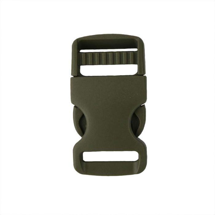 1 Inch Plastic Single Adjust Side Release Buckle Olive Drab