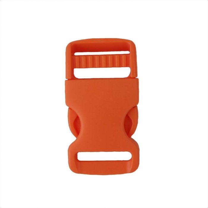 1 Inch Plastic Single Adjust Side Release Buckle Orange