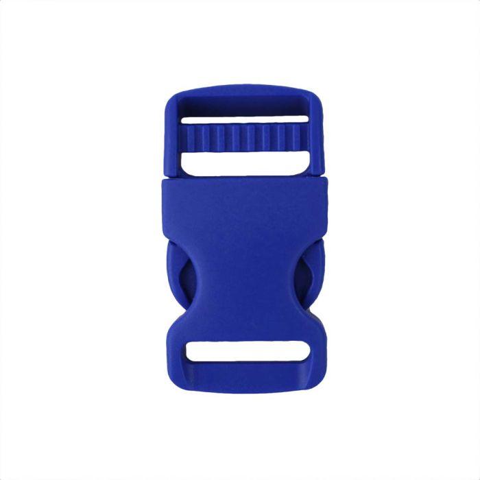 1 Inch Plastic Single Adjust Side Release Buckle Pacific Blue
