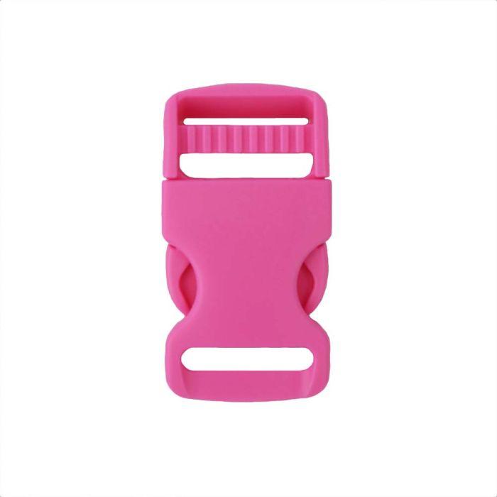 1 Inch Plastic Single Adjust Side Release Buckle Pink