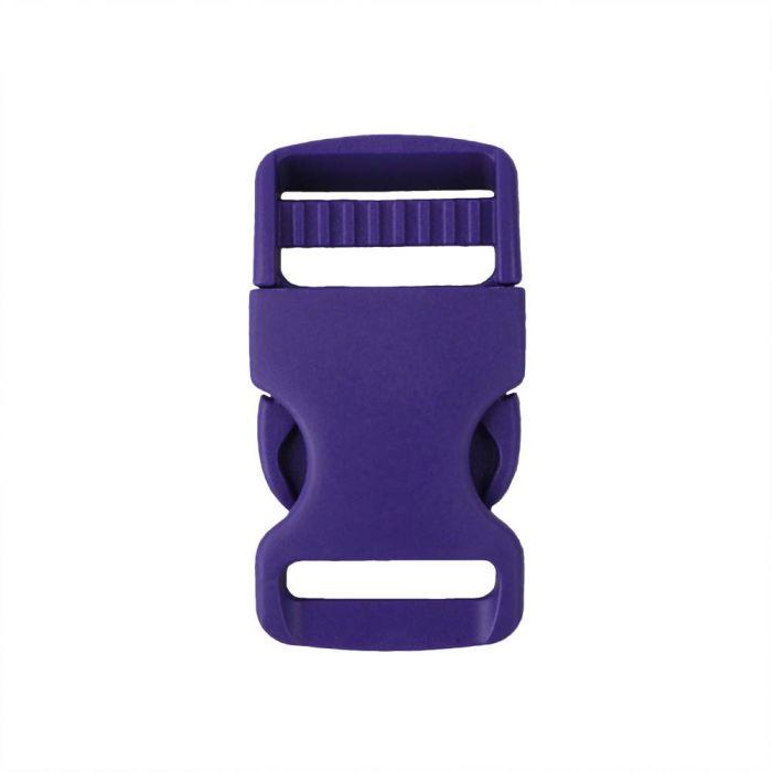 1 Inch Plastic Single Adjust Side Release Buckle Purple
