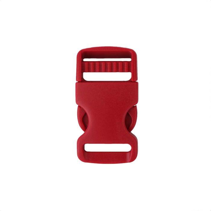 1 Inch Plastic Single Adjust Side Release Buckle Red