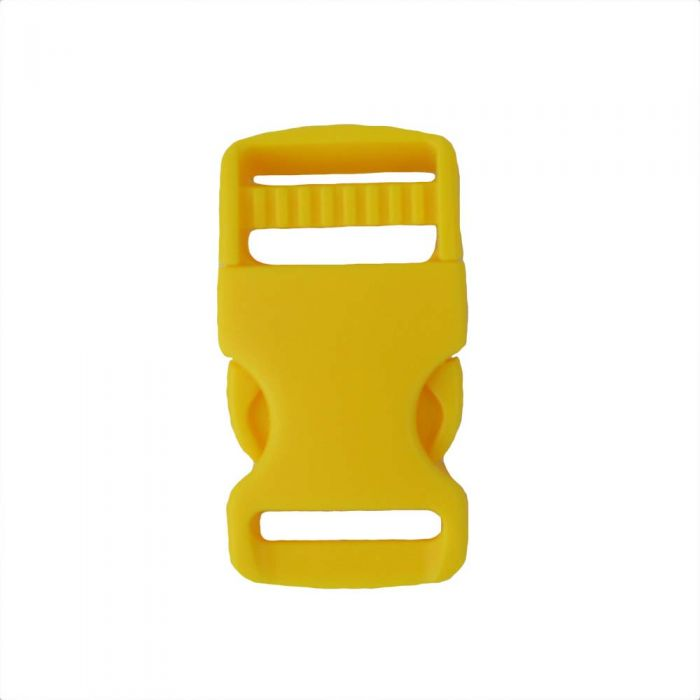 1 Inch Plastic Single Adjust Side Release Buckle Yellow