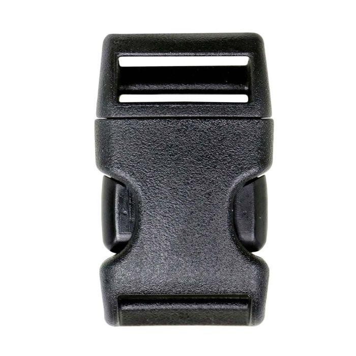 1 Inch Plastic Weinerlock Side Release Buckle Single Adjust Black