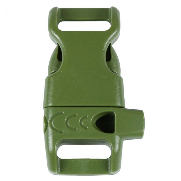 1/2 Inch Whistle Side Release Buckle No Adjust Contoured Olive Drab