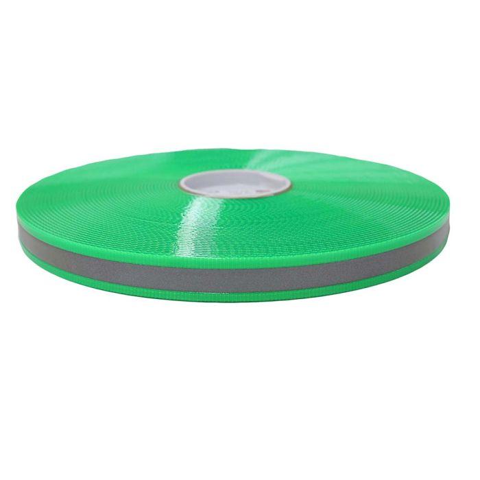 1 Inch Biothane Hot Green Reflective