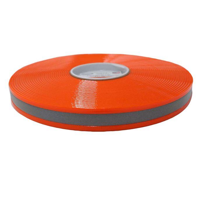 1 Inch Biothane Hot Orange Reflective