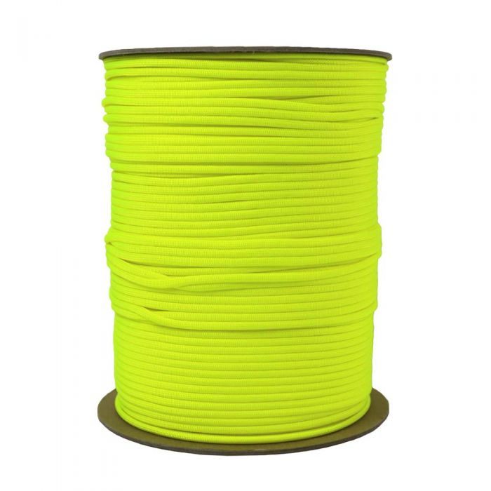 1/8 Inch Parachute Cord - Hot Yellow