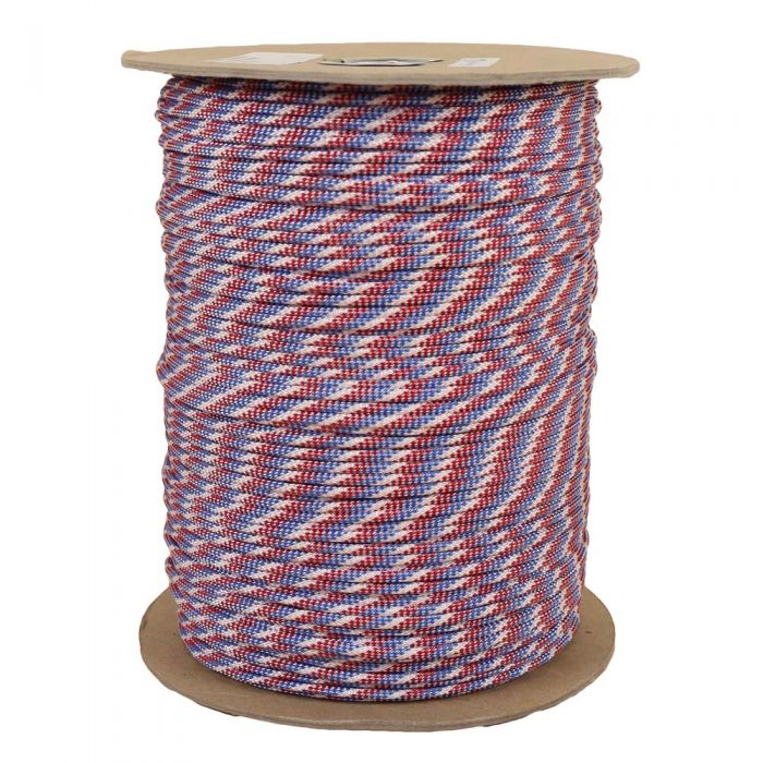 1/8 Inch Parachute Cord - Red, White, & Blue