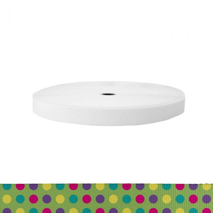 1 Inch Sublimated Elastic Candy Dots