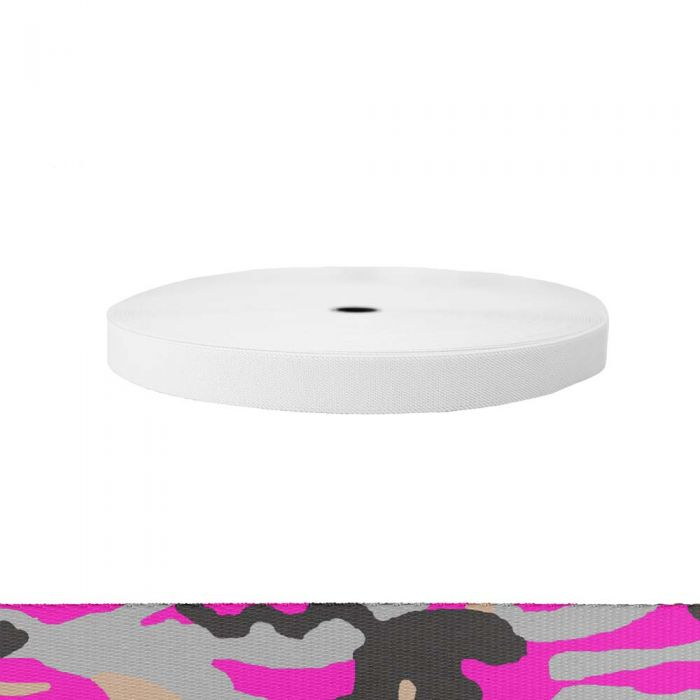 1 Inch Sublimated Elastic Camouflage Pink