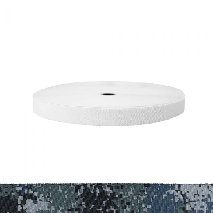 1 Inch Sublimated Elastic Camouflage Digital Blue
