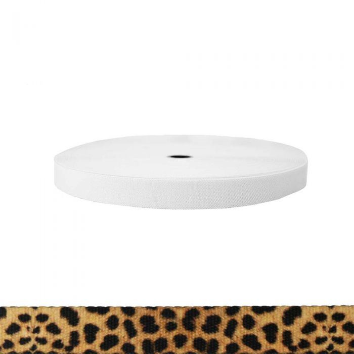 1 Inch Sublimated Elastic Leopard