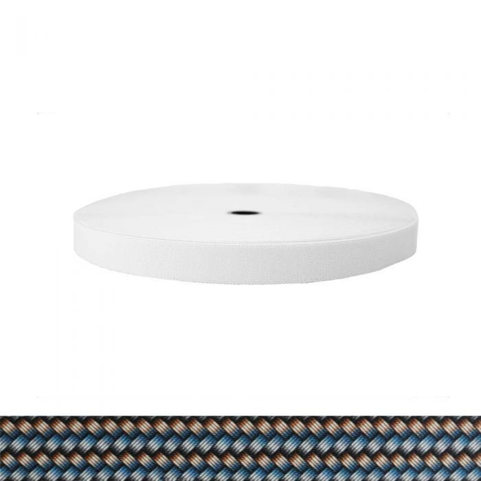 1 Inch Sublimated Elastic Metal Weave