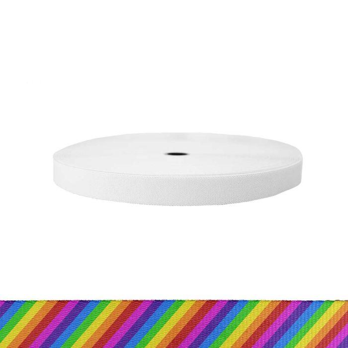 1 Inch Sublimated Elastic Rainbow Stripe
