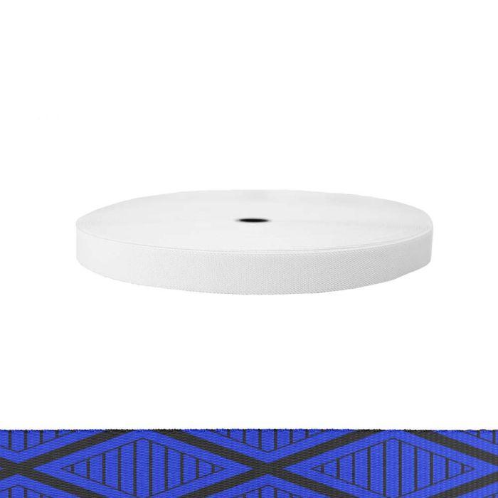 1 Inch Sublimated Elastic Tiki Blue