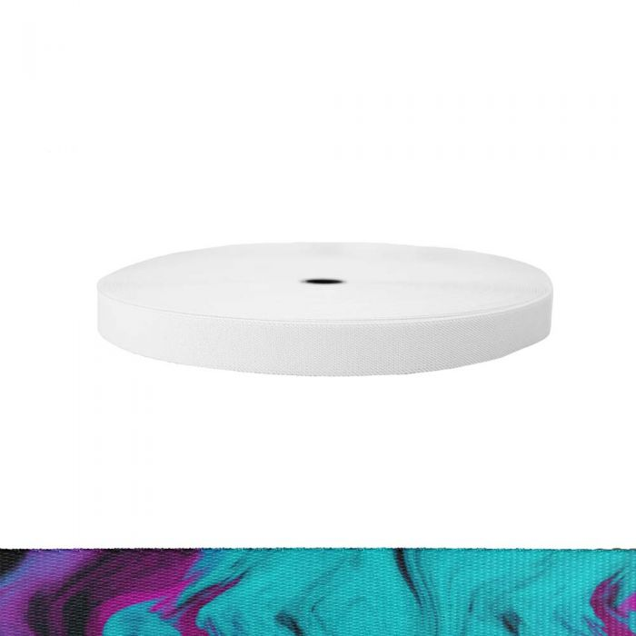 1 Inch Sublimated Elastic Wicked Purple