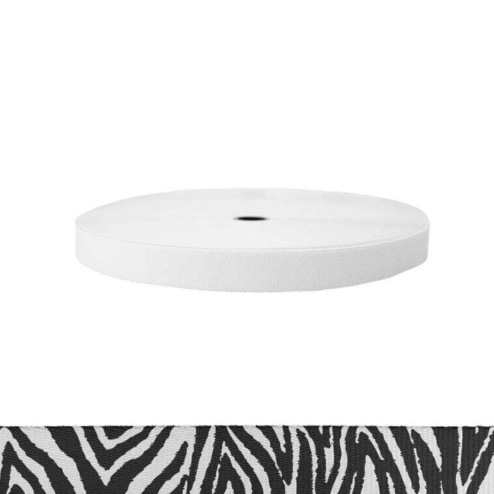1 Inch Sublimated Elastic Zebra
