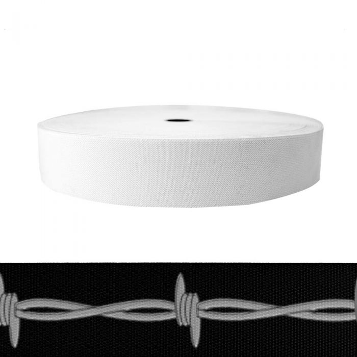 2 Inch Sublimated Elastic Barbed Wire: Silver