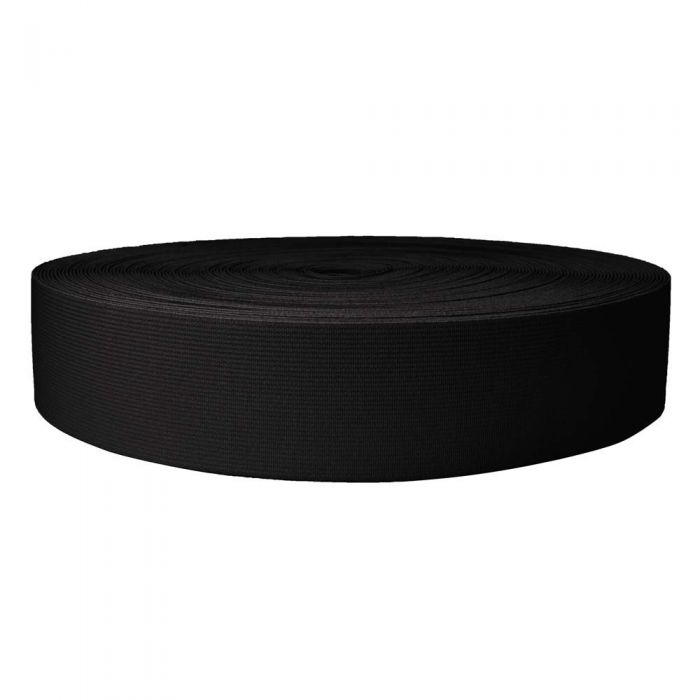 2 Inch Sublimated Elastic Black