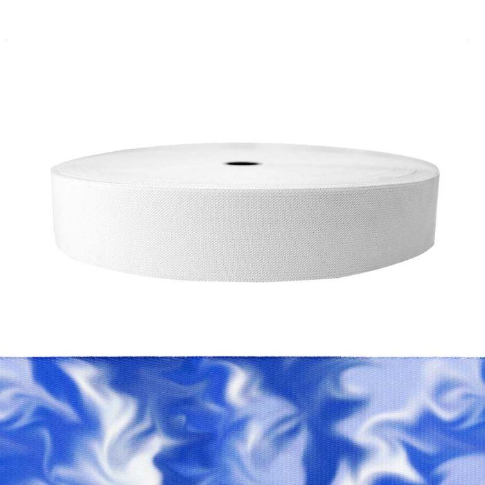 2 Inch Sublimated Elastic Blue Smoke