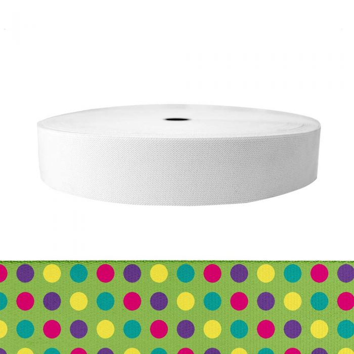2 Inch Sublimated Elastic Candy Dots