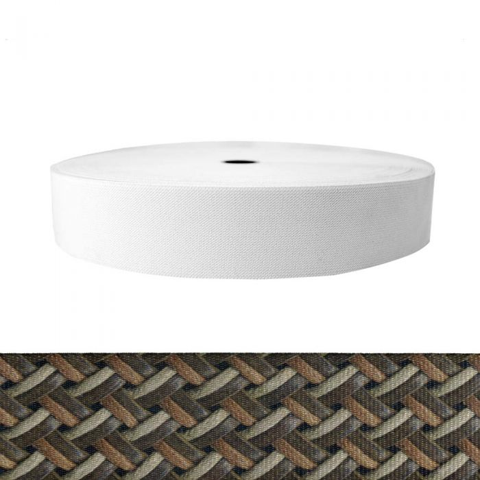 2 Inch Sublimated Elastic Leather Weave