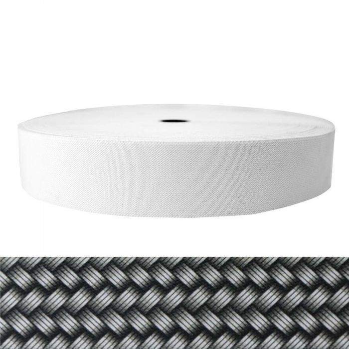 2 Inch Sublimated Elastic Metal Weave - Silver