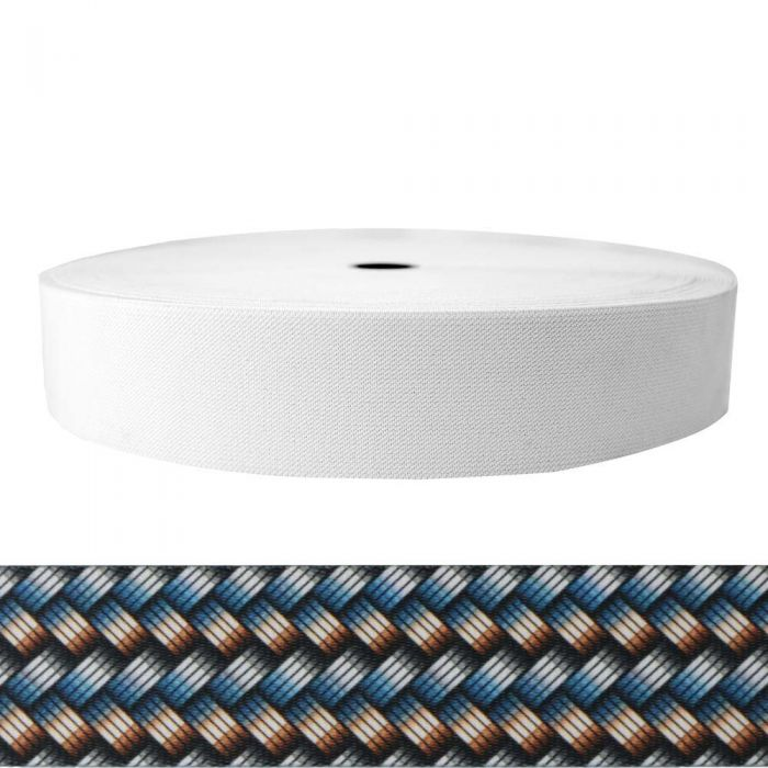 2 Inch Sublimated Elastic Metal Weave