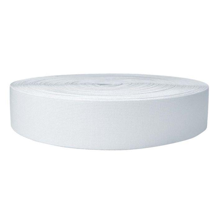 2 Inch Sublimated Elastic White
