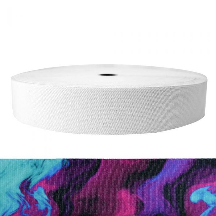 2 Inch Sublimated Elastic Wicked Purple