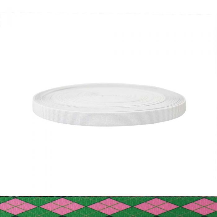 3/4 Inch Sublimated Elastic Argyle: Pink and Green