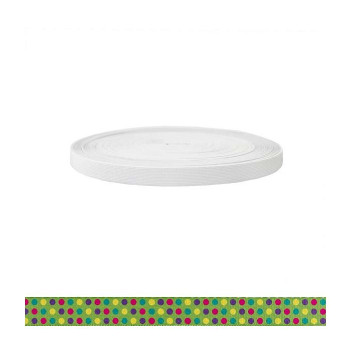 3/4 Inch Sublimated Elastic Candy Dots